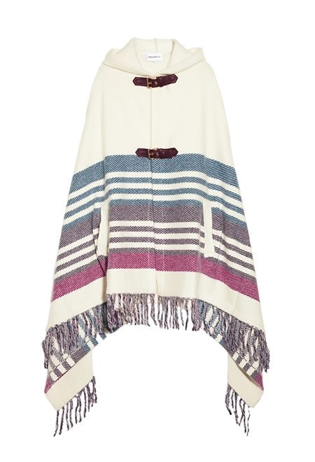 EMILIO PUCCI hooded striped knitted cape
