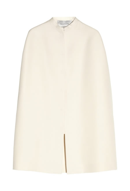 VALENTINO wool and silk-blend twill cape