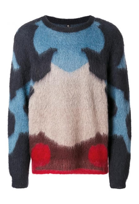 OAMC colour block knitted sweater.