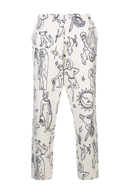 THE ELDER STATESMAN Compton printed pants