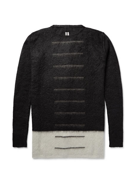 RICK OWENS colour mohair sweater