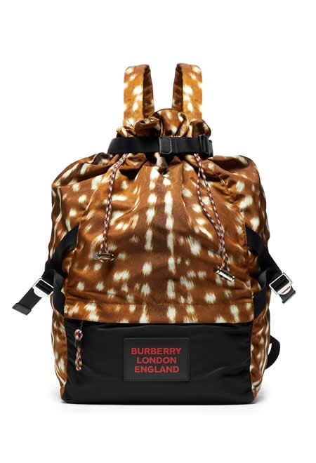 BURBERRY Print nylon drawcord backpack