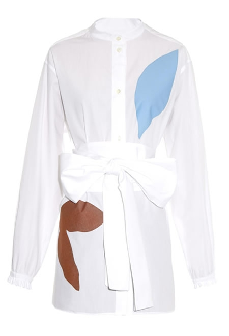 JONATHAN SAUNDERS alex cotton-poplin shirt