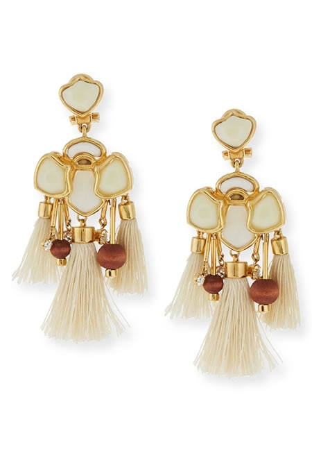 LELE SADOUGHI tassel chandelier earrings