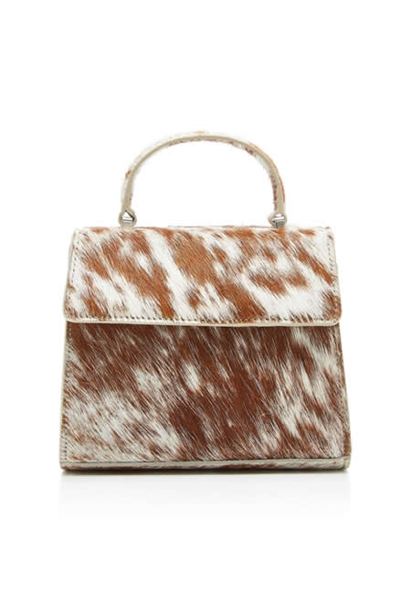 MARYAM NASSIR ZADEH Marlow pony hair shoulder bag