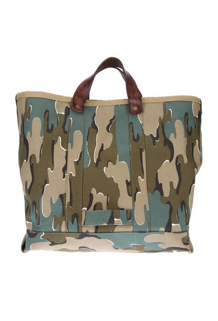 GOLDEN GOOSE DELUXE BRAND khaki camouflage tote