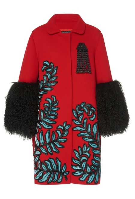 ANDREW GN Embroidered overcoat