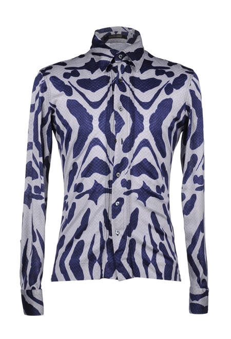 ROBERTO CAVALLI blue long sleeve shirt