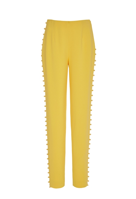 PAMELLA ROLAND Tailored stretch crepe trousers
