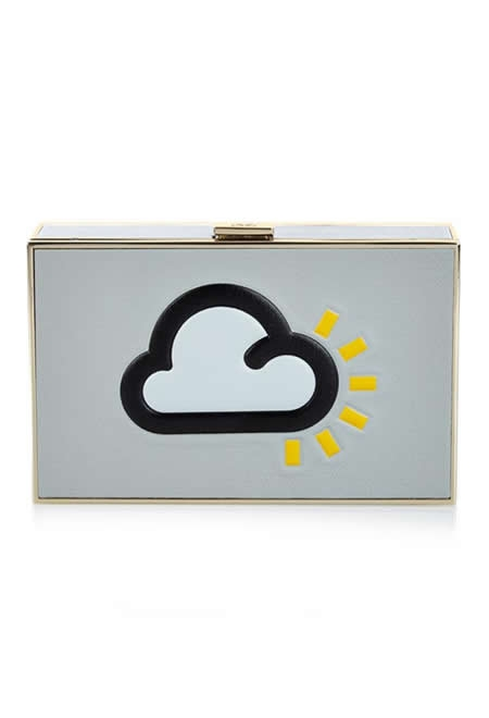 ANYA HINDMARCH weather imperial leather clutch