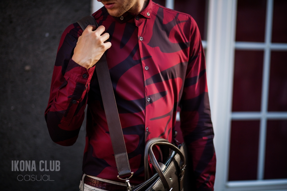 Mens fashion | Swallow print shirt