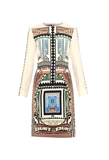 Silk dress Mary Katrantzou. Women's collection. Online boutique.