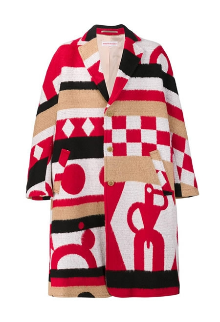 WALTER VAN BEIRENDONCKY oversized single breasted coat