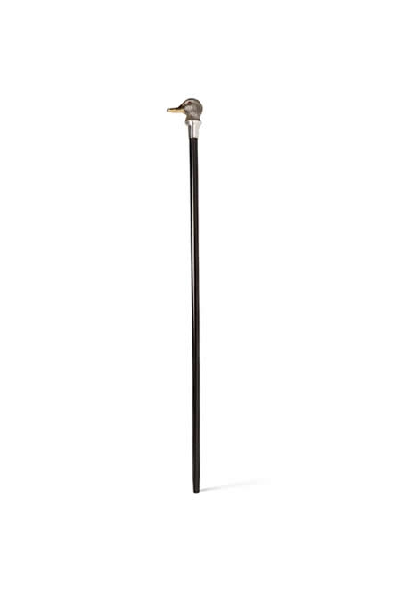 ASPREY Ebony wood walking cane with a sterling silver duck head top