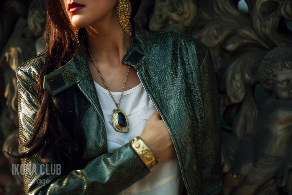 Fashion | Snake leather jacket