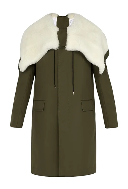 CALVIN KLEIN  Shearling-lined hooded parka