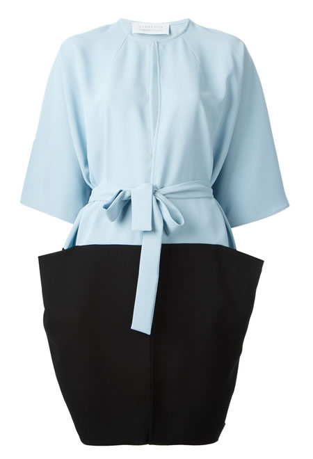 GIANLUCA CAPANNOLO blue cocoon pocket coat