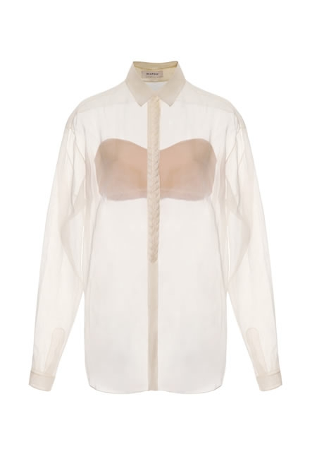 DELPOZO Braided placket shirt