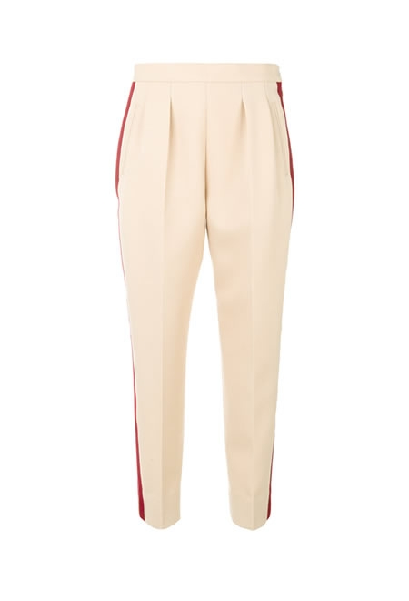 MAISON MARGIELA side-striped wool trousers