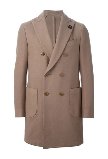 LARDINI double breasted overcoat