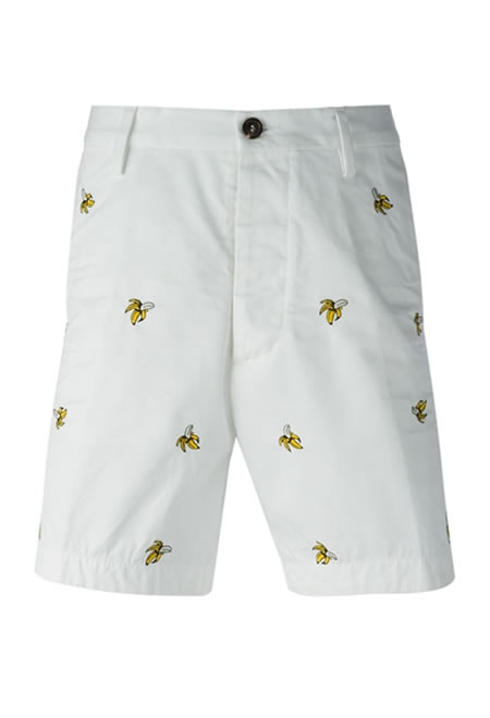DSQUARED2 embroidered banana shorts
