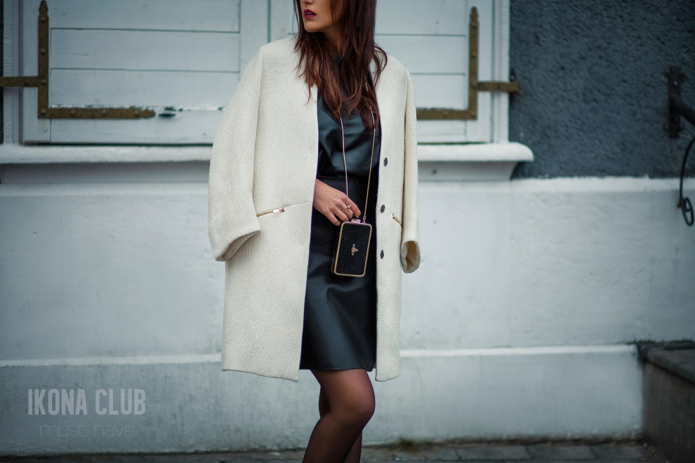 Fashion | Womens white wool fashion coat