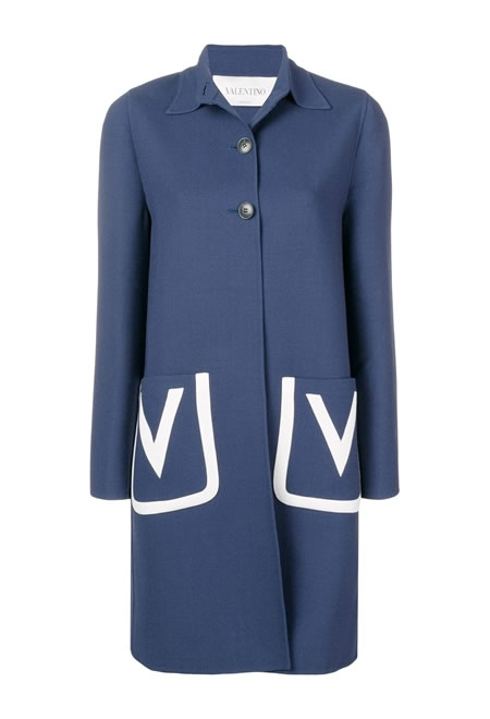 VALENTINO Embroidered woolcoat