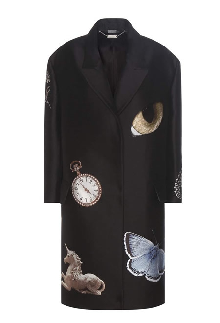 Black oversized night time obsession coat ALEXANDER MCQUEEN