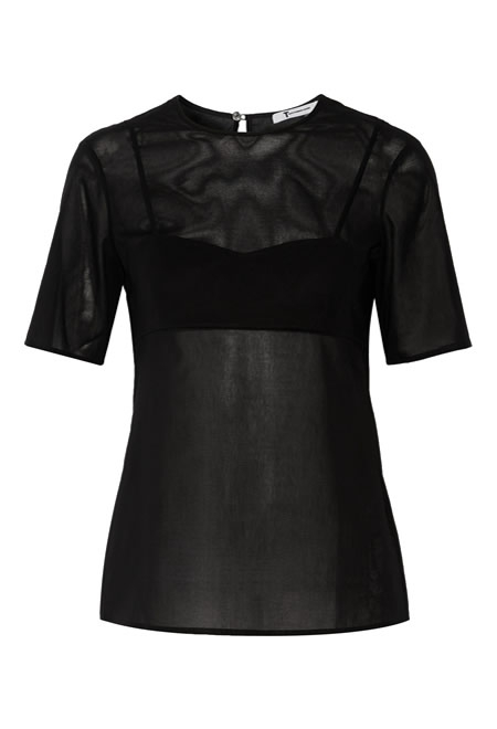 T BY ALEXANDER WANG cotton voile top