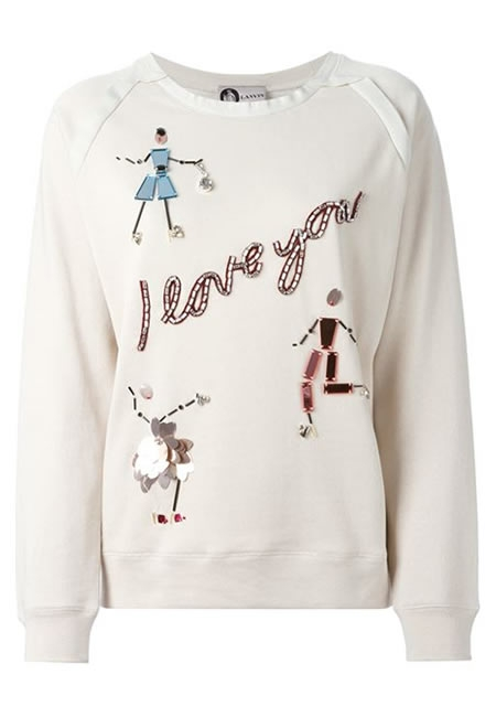 LANVIN I love you applique sweatshirt