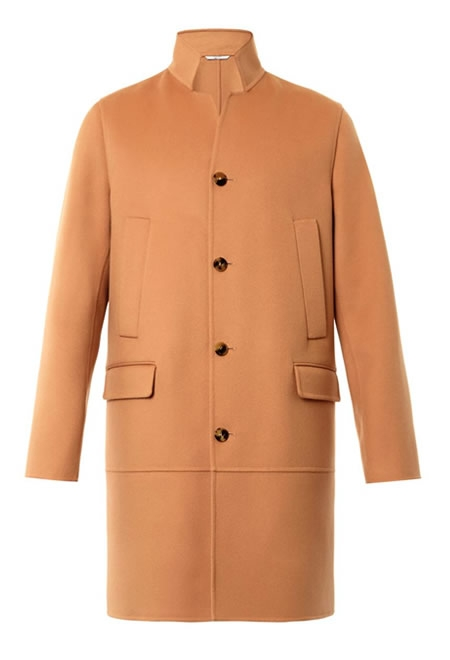 VALENTINO single-breasted wool cashmere-blend coat