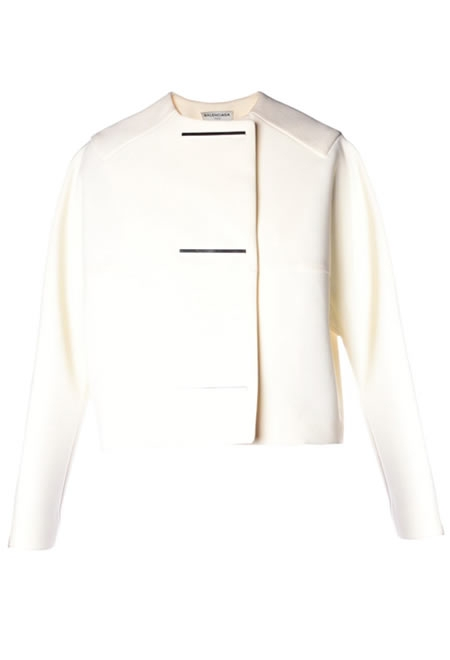 BALENCIAGA metal-bar collarless jacket