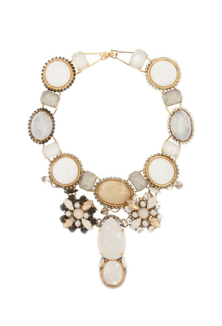VICKISARGE beatrix gold-plated multi-stone necklace