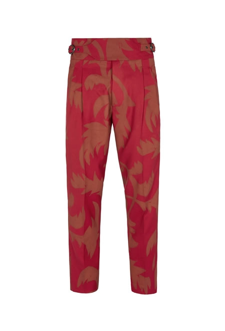 VIVIENNE WESTWOOD new classic trousers red print