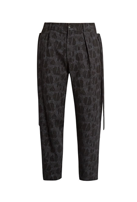 DAMIR DOMA picasso wool and cotton-blend jacquard trousers.