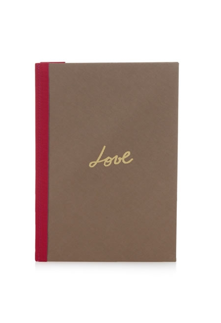 LANVIN love iconic A5 canvas notebook