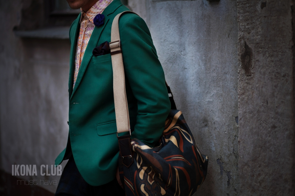 Mens fashion | Green blazer
