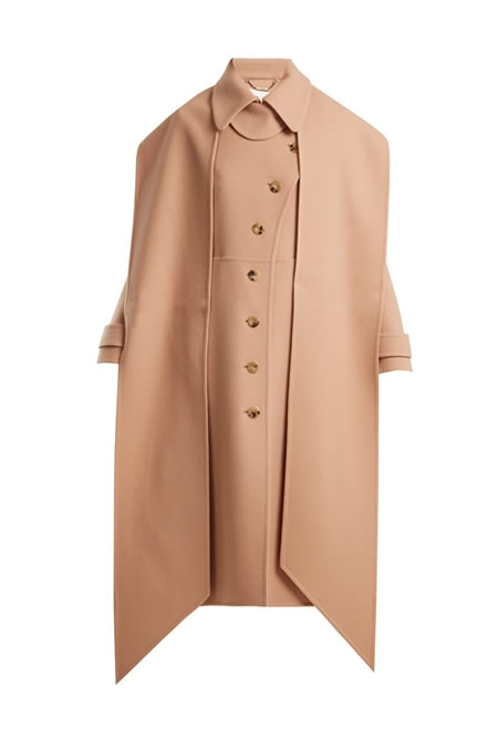 CHLOE asymmetric wool coat