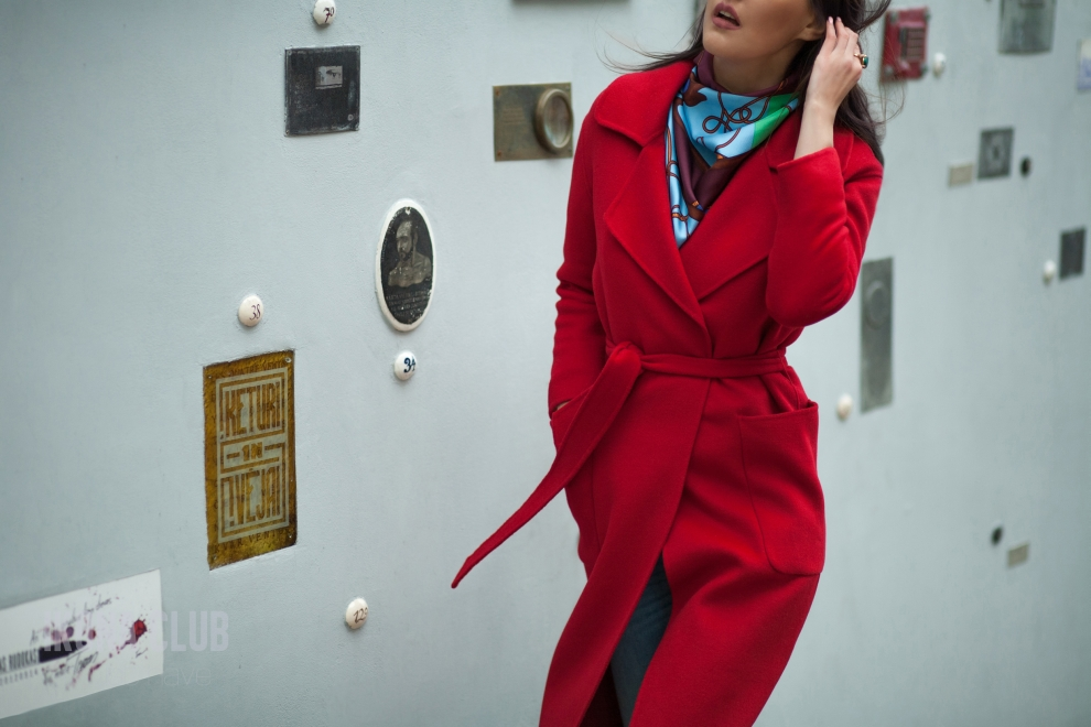 Street style | NFW | Red womens coat