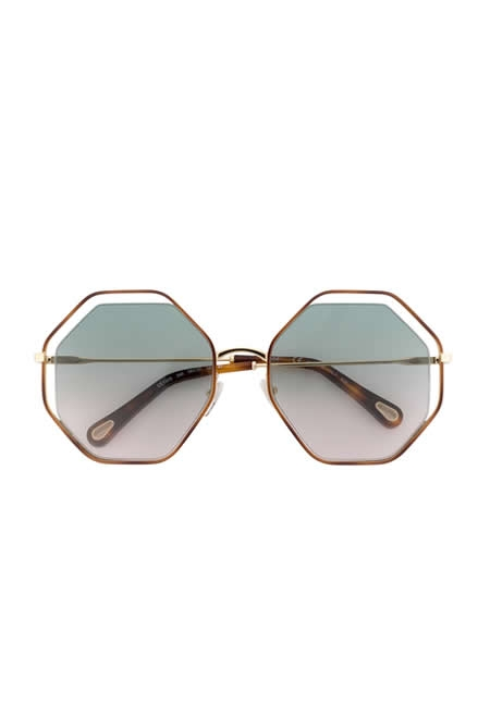 CHLOE EYEWEAR oversized hexagon sunglasses