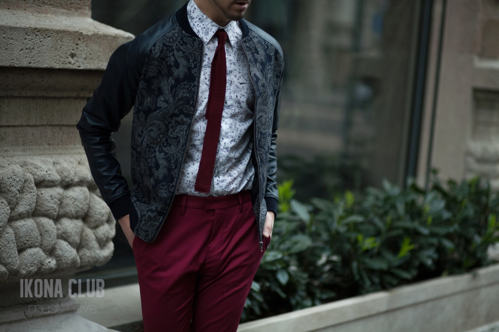 Street style looks | Mens bomber jacket