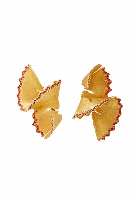 LUZ CAMINO red pencil chip earrings.