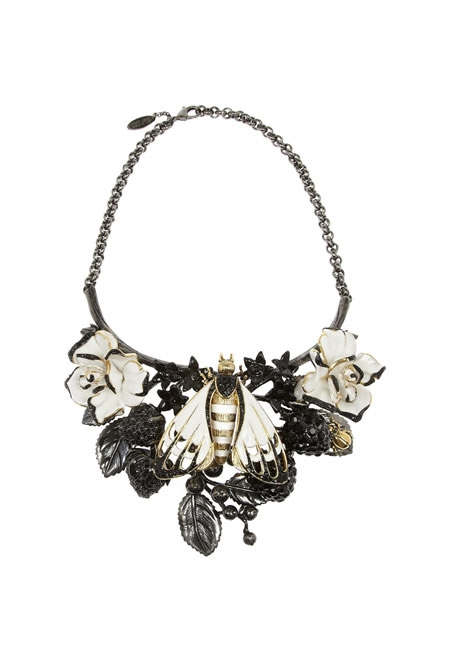 ROBERTO CAVALLI butterfly ruthenium-plated Swarovski crystal necklace