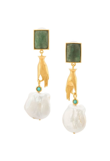 LIZZIE FORTUNATO Women's pendant earrings