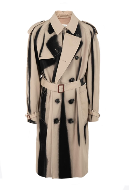 MAISON MARGIELA Spray-effect trench coat