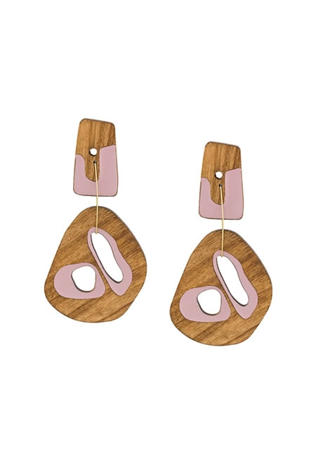 ROKSANDA  Sculptural wood drop earrings