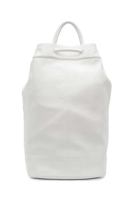 JUUN J white leather drawstring backpack