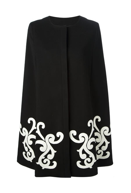 MSGM paisley embroidered cape